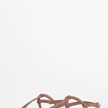 Boutique Zoe Plain Toe Thong Suede Sandal