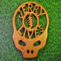 Jerry Garcia Steal Your Face Woodcarving-Grateful Dead-Jerry Lives Memorial