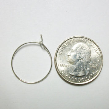 20 mm silver hoop earrings, earrings for beading, wine glass charms, stitch markers, party charms, wine glass,wine charms.  100 pieces