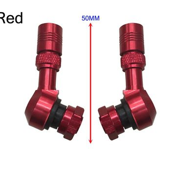 Set Motorcycle Tubeless Wheel Tire Valve Stem With CNC 5 colors For KTM And Other models