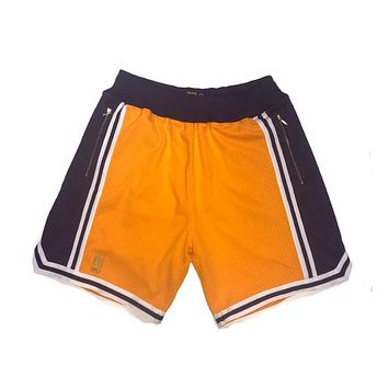 Los Angeles Lakers 1996-97 Authentic Shorts Customized w/ Pockets