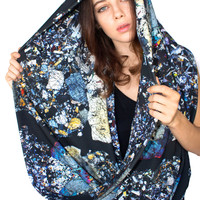 Oversized Meteorite Section Circle Scarf
