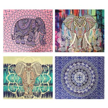 Indian Mandala Tapestry Wall Hanging Bohemian Bedspread Dorm Decor Beach Towel Yoga Mat Blanket Table Cloth Southeast Asia