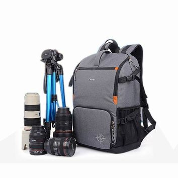 ICIKFV3 DSLR Camera Photo Backpack Padding Divider Insert with 15' Laptop Pack Travel Bag for Canon 5D 7D 600D Nikon D7200 Sony a6000 37