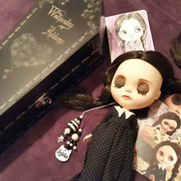 WEDNESDAY ADDAMS custom Blythe by Loliña