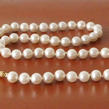 Pearl Necklace Faux Pearl Pearl Choker Vintage Costume Jewelry Wedding Accessory 18 Inch Edwardian