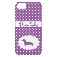 Purple Polka Dot Doxaholic Case For iPhone 5C