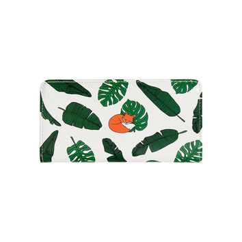 Fresh PU long wallets for women in LOVELY ANIMALS series originally designed