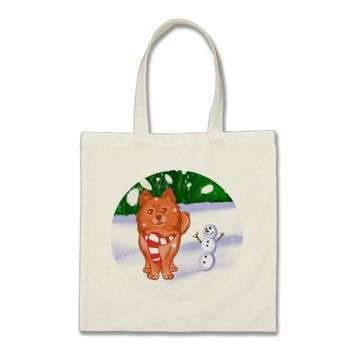 Snow Puppy Tote Bag