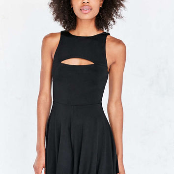 Silence + Noise Selena Cutout Knit Tie-Back Romper - Urban Outfitters