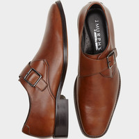 Johnston & Murphy Novick Tan Monk Strap Shoes - Dress Shoes | Men's Wearhouse