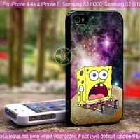 Spongebob Star In Galaxy Nebula for iPhone 4-4s, iPhone 5, Samsung S2, S3, S4 Case