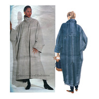 ISSEY MIYAKE Vogue 2736 Oversized COAT Pattern Futuristic Japanese Designer Avant Garde Plus Size Womens Sewing Patterns Size 16 18 20 22