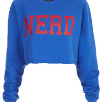 Nerd Crop Sweat - Brands at Topshop - Sweatshirts & Hoodies - Jersey Tops - Clothing - Topshop