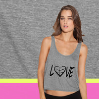 love basketball ladies' flowy tanktop