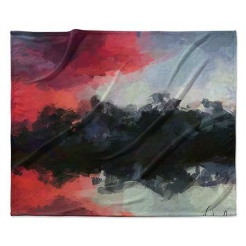 "Oriana Cordero ""Montserrat"" Pink Black Fleece Throw Blanket"