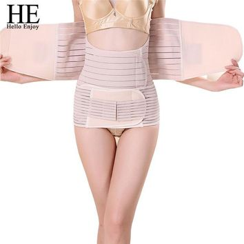 VONE2B5 HE Hello Enjoy 3Pieces Set Maternity Postnatal Belt After Pregnancy bandage Belly Band waist corset Pregnant Women Slim Shapers