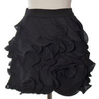 Trendy and Cute bottoms - MM Couture - Black Rosebud Skirt - chloelovescharlie.com | $75.00