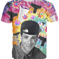 3d Fashion Women Men tee Full House of Lean T-Shirt Hip Hop tees bottle purple drank weed leaf gun Bob Saget t shirt tops