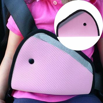 Triangle Baby Kids Car Safe Fit Seat Belt Adjuster Device Auto Safety Belt Cover For Baby Stroller Accessories