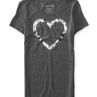 Sequin Heart Graphic T