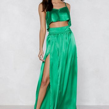 Give Us Your Two Cents Crop Top and Maxi Skirt