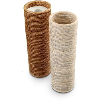 DWBA Malacca Round Free Standing Toilet Paper Holder Bathroom Storage - Rattan