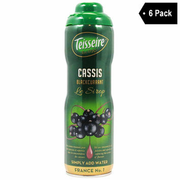 Teisseire French Blackcurrant Syrup (20 oz. x 6)