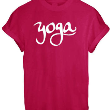 YOGA MIND BODY RELAXATION CALM MEN WOMEN UNISEX T SHIRT TOP TEE NEW XS S M L XL - RED