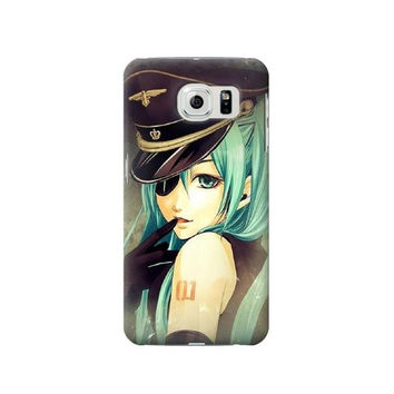 P1156 Vocaloid Sexy Hatsune Miku Police Phone Case For Samsung Galaxy S6 edge