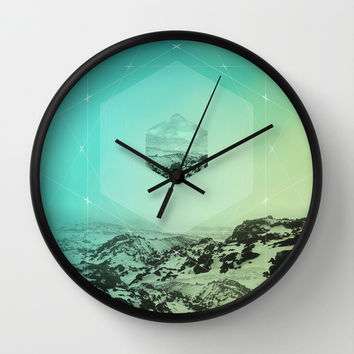 A Place Called Elsewhere Wall Clock by Soaring Anchor Designs
