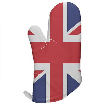 British Flag Union Jack All Over Oven Mitt