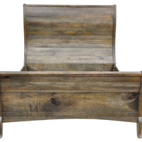 Tamara Bed, Gray, Sleigh Beds