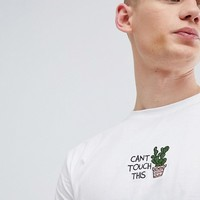 Brooklyn Supply Co Can't Touch This Cactus Embroidered T-Shirt at asos.com