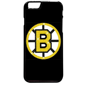 Boston Bruins Glitter For iPhone 6 Plus Case **
