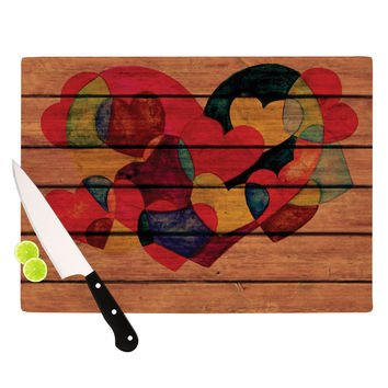 "Louise Machado ""Wooden Heart"" Cutting Board"