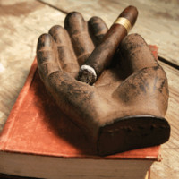 Cast Iron Hand Cigar Ashtray