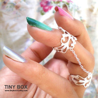 Silver Armor Ring - Slave Ring - Gorgeous Knuckle Rings by Tiny Box 12