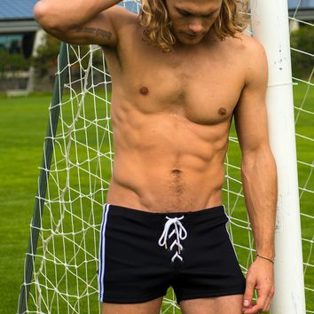 Lace Up Ribbed Athletic Short