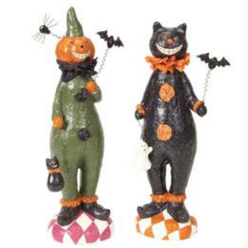 2 Halloween Figures - Pumpkin