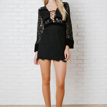 Iris Lace Mini Dress