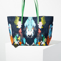 Expressionist Painted Tote Bag