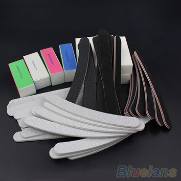 13PCS Nail Art Sanding Files Buffer Block Manicure Pedicure Tools UV Gel Set 1U8E = 5658885121