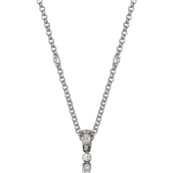 Panthère de Cartier necklace: 18K white gold necklace pavé-set with diamonds, set with black jade, onyx spots