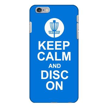 keep calm and disc golf on target frisbee basket iPhone 6/6s Plus Case