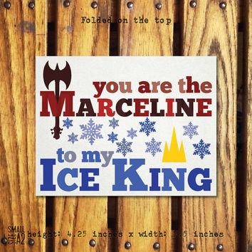 You Are My Marceline - Adventure Time Card - Funny Greeting Card - Father to Daughter Card - Marceline and Ice King Card - A2 Card