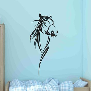 Horse Bust Wall Decal Sticker, Vinyl Wall Art, Wall Decor