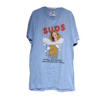 80's Beer Film T-shirt SUDS 1981 Tee The Film the Blows the Head Off the Beer Industry
