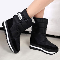 Brand Women Snow Boots waterproof Classic Fur Winter Warm Platform Shoes Woman Boot Hook Heels Botas Mujer Zapatos ankle