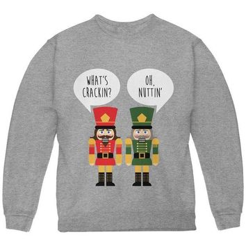 DCCKU3R Christmas Nutcracker What's Crackin' Funny Youth Sweatshirt